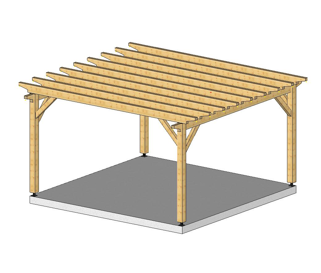 Plan De Pergola En Bois #11: Pergola Plans Popular Mechanics U003d Pergola Bois Plan Construction