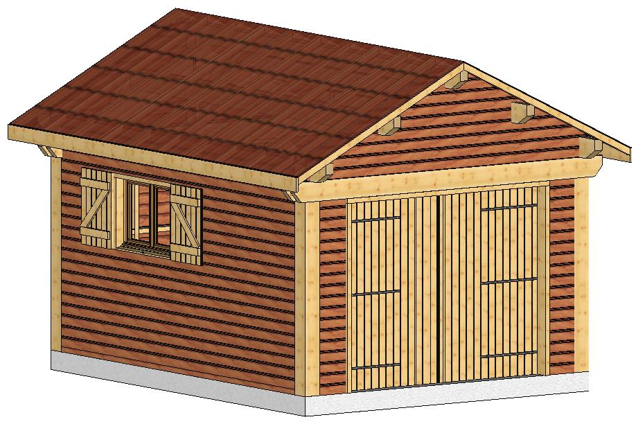 Charpente traditionnelle en kit maison ossature bois for Construire garage en bois