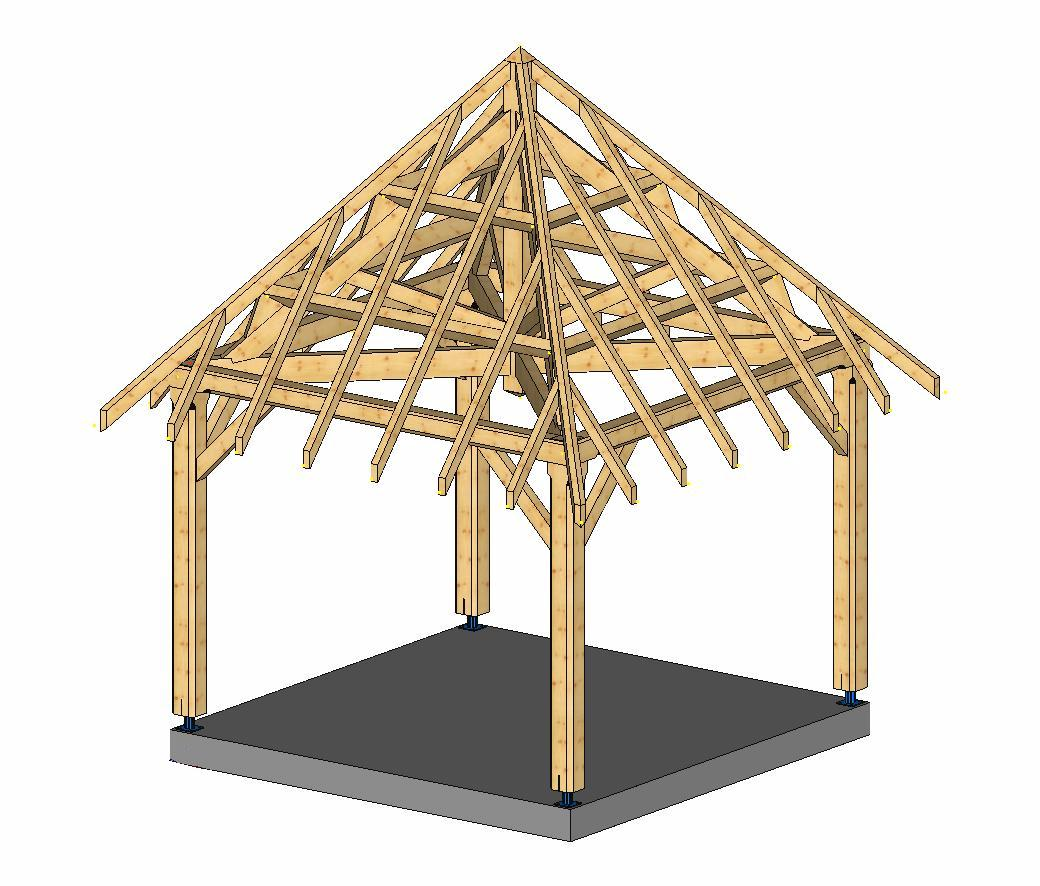 Plan charpente hexagonale
